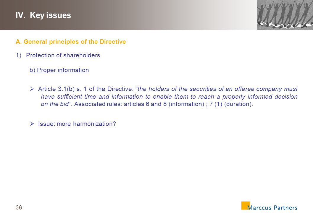 37 IV.Key issues A.