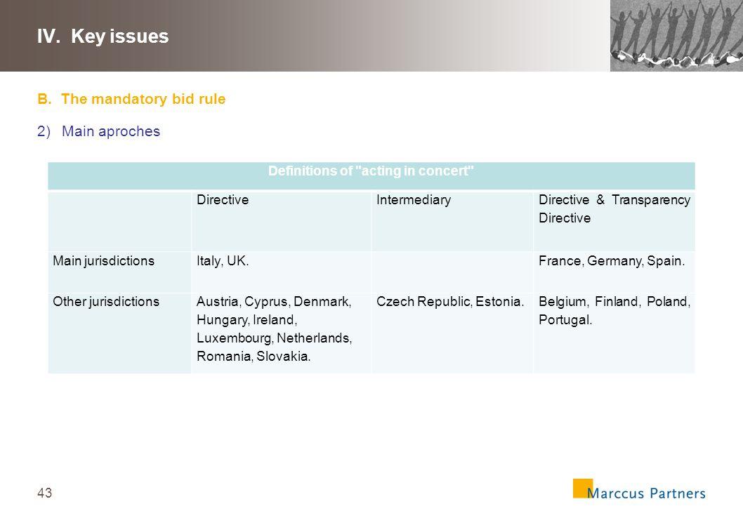 44 III.Key issues B.