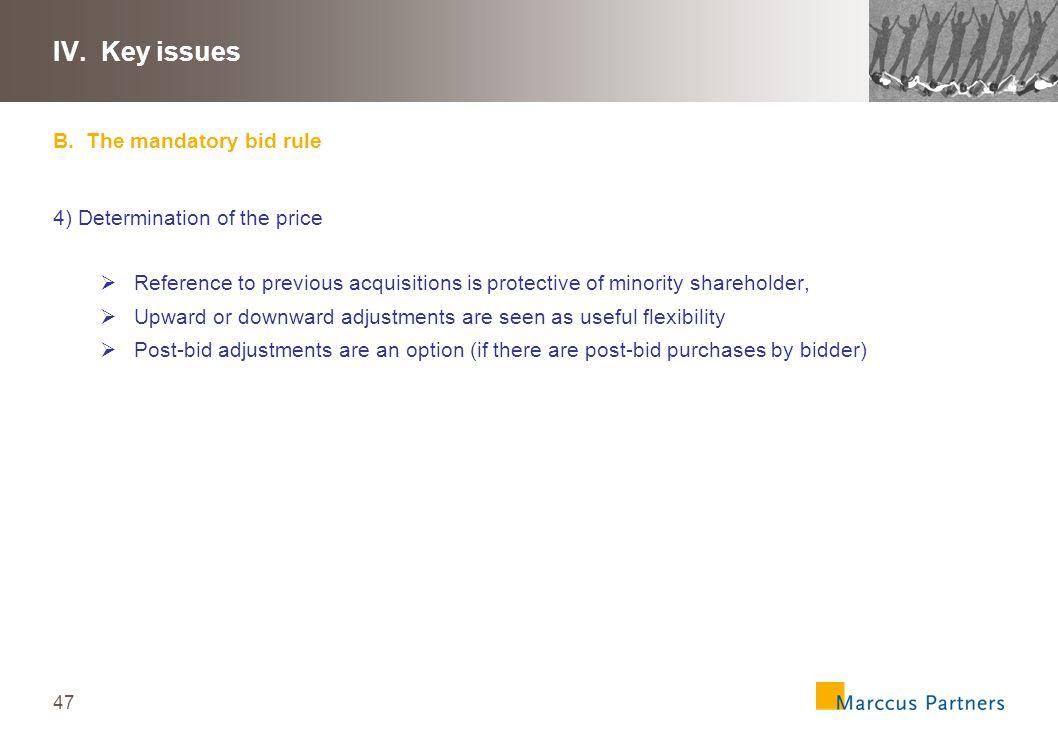 48 IV.Key issues C.