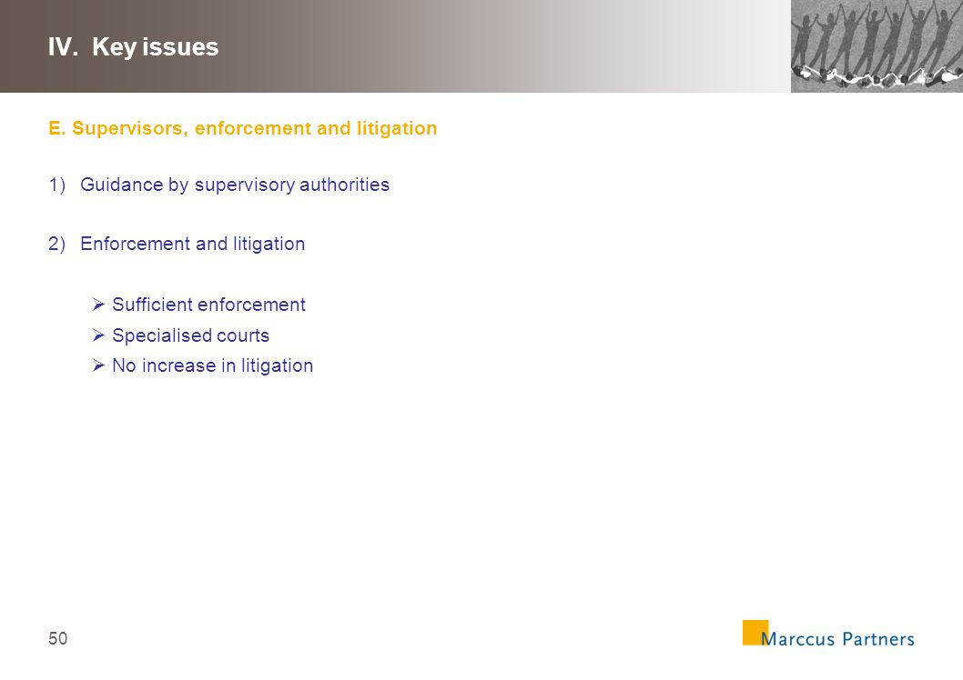 51 IV.Key issues F.