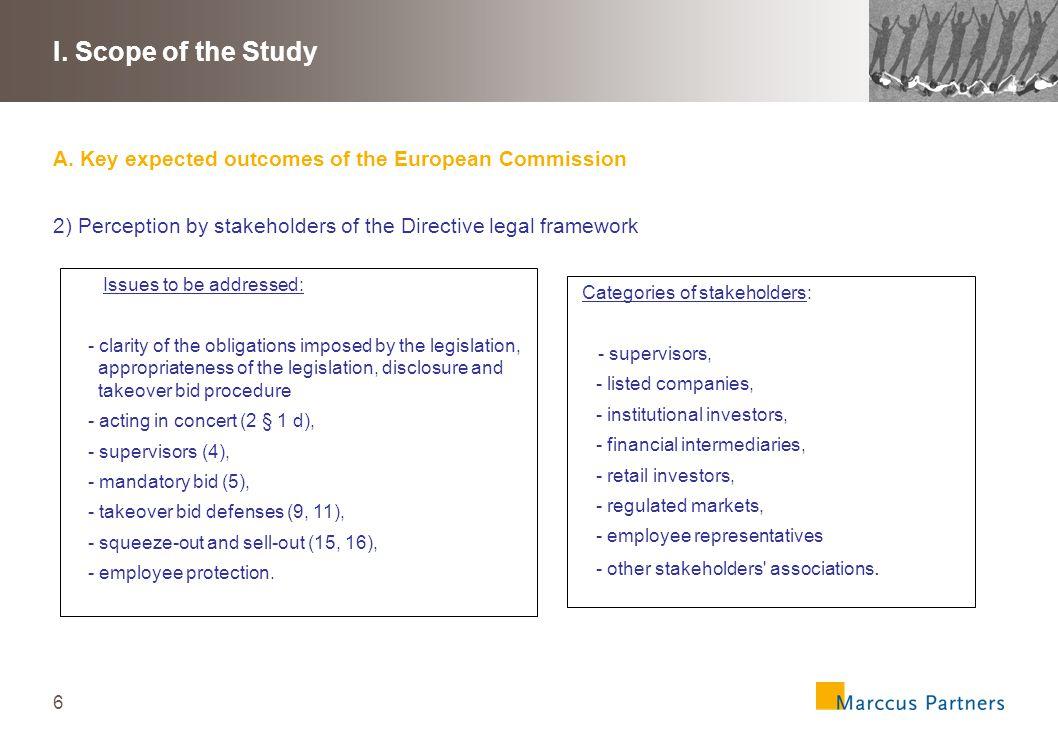 7 I.Scope of the Study B.