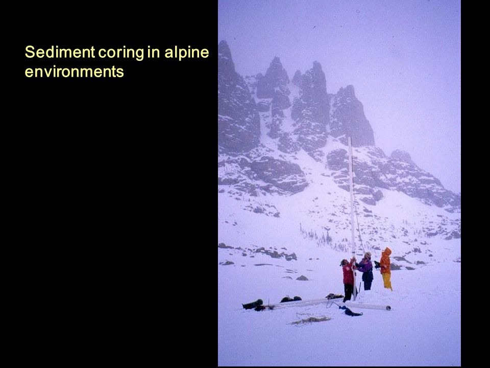 Sediment coring in alpine environments