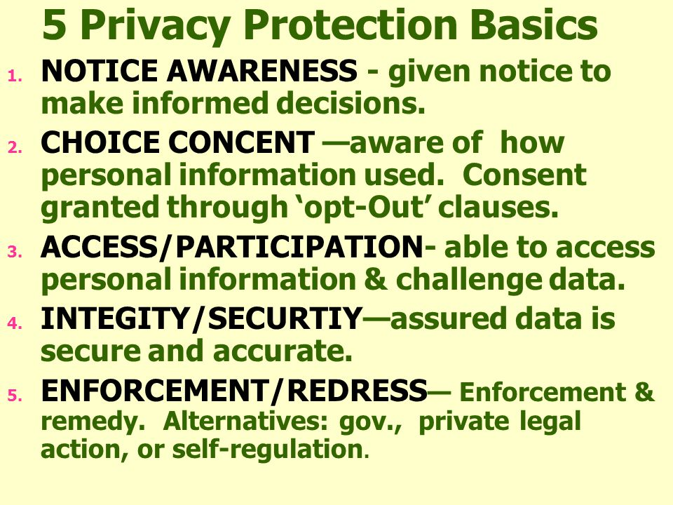 44 ISSUES OF CONTENT: IS PRIVACY A RIGHT?