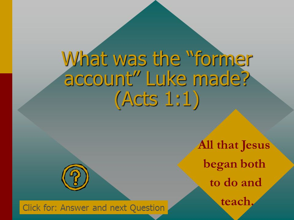 TRIVIA Acts 1 Click for Question