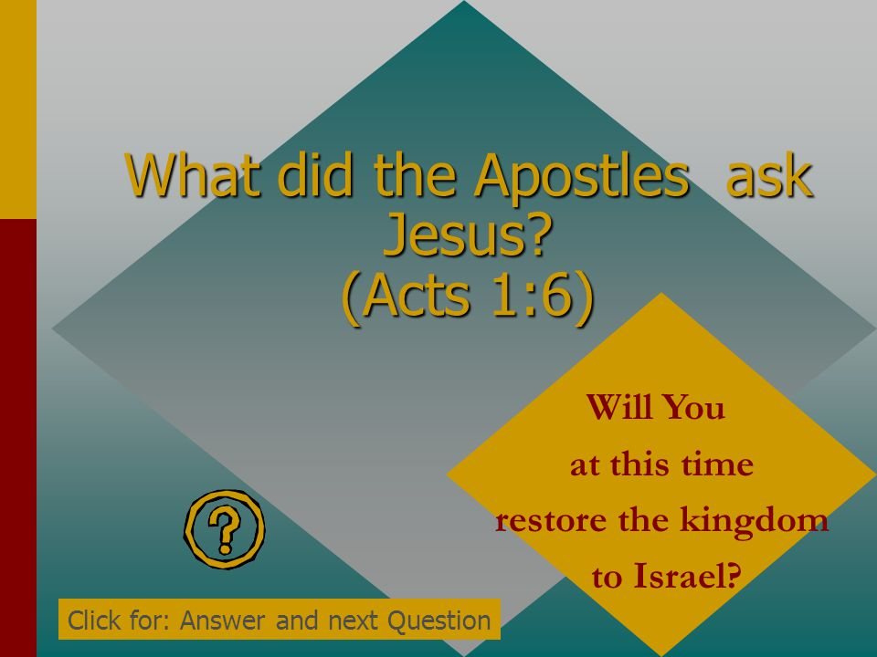 For John truly baptized with ______, but you shall be baptized with the _____ ______ not many days from now. (Acts 1:5) Water, Holy Spirit Click for: Answer and next Question