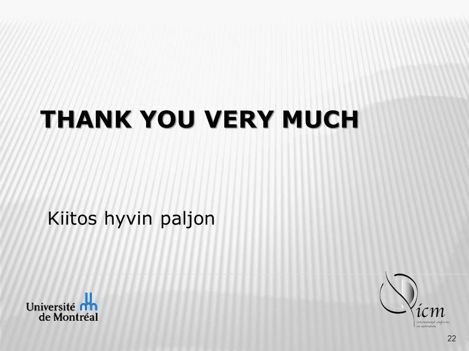THANK YOU VERY MUCH Kiitos hyvin paljon 22