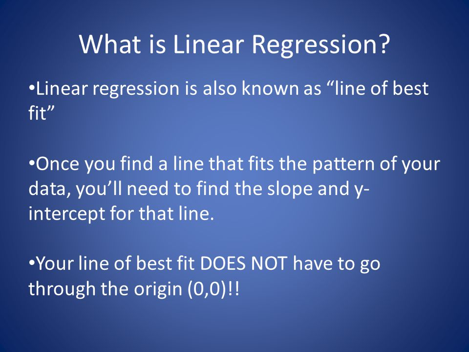 What is Linear Regression.