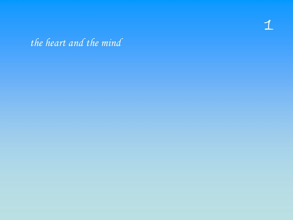 the heart and the mind 1