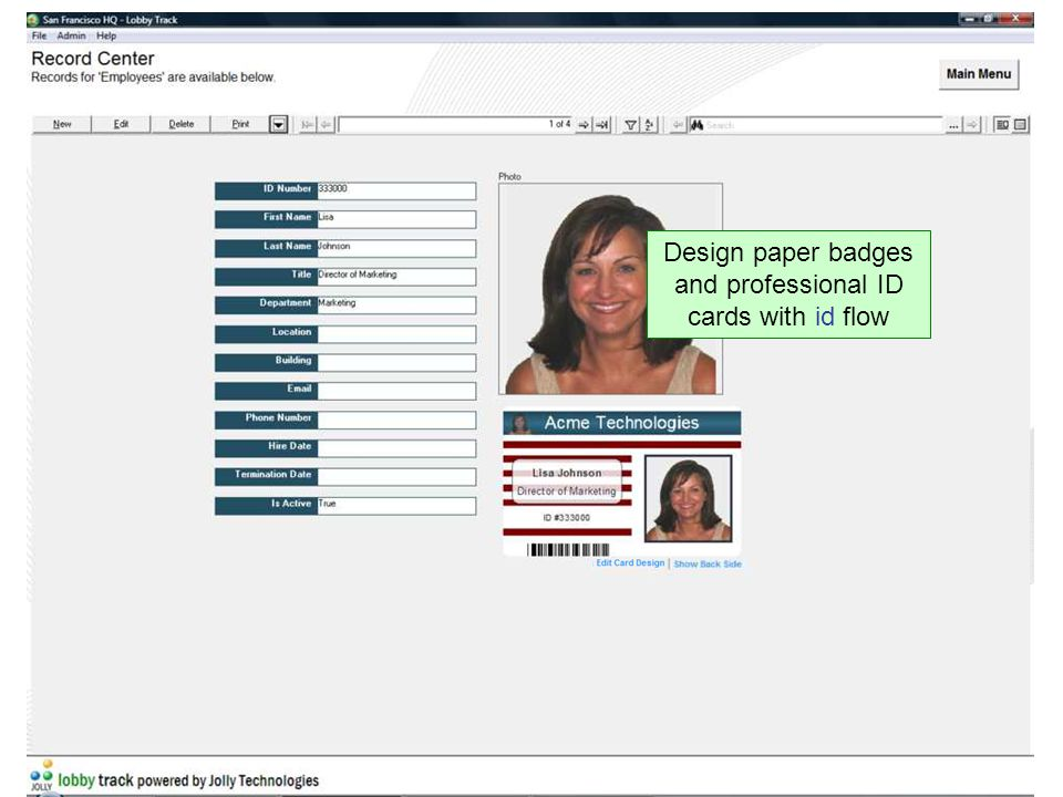 Design paper badges and professional ID cards with id flow