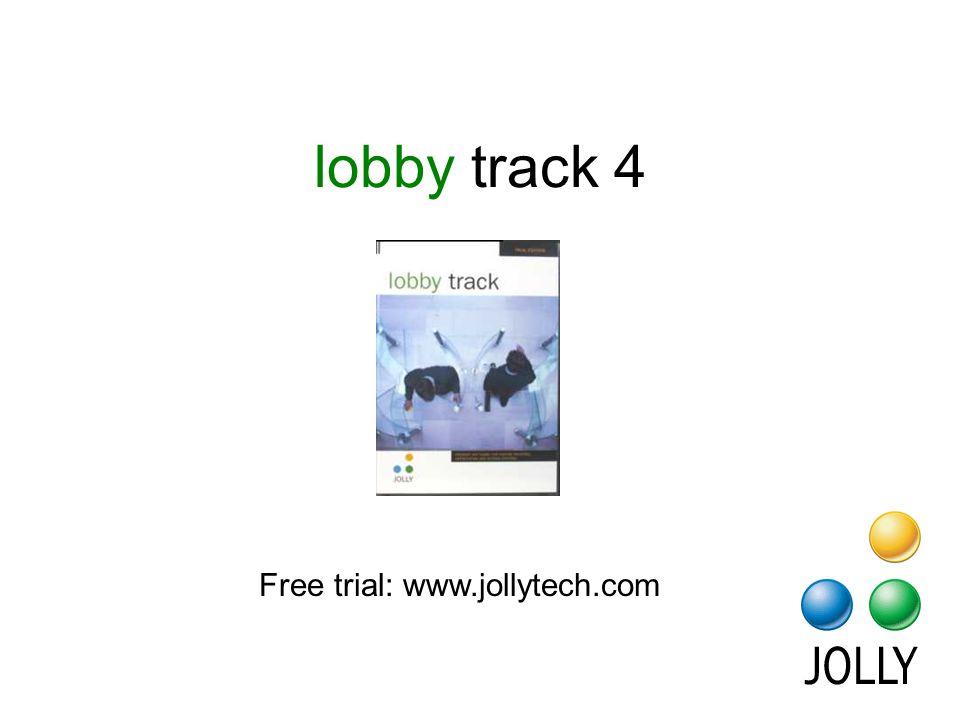 lobby track 4 Free trial: www.jollytech.com