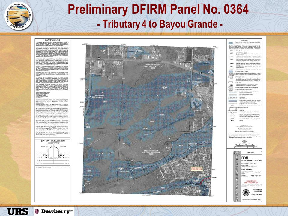 Preliminary DFIRM Panel No. 0364 - Tributary 4 to Bayou Grande -
