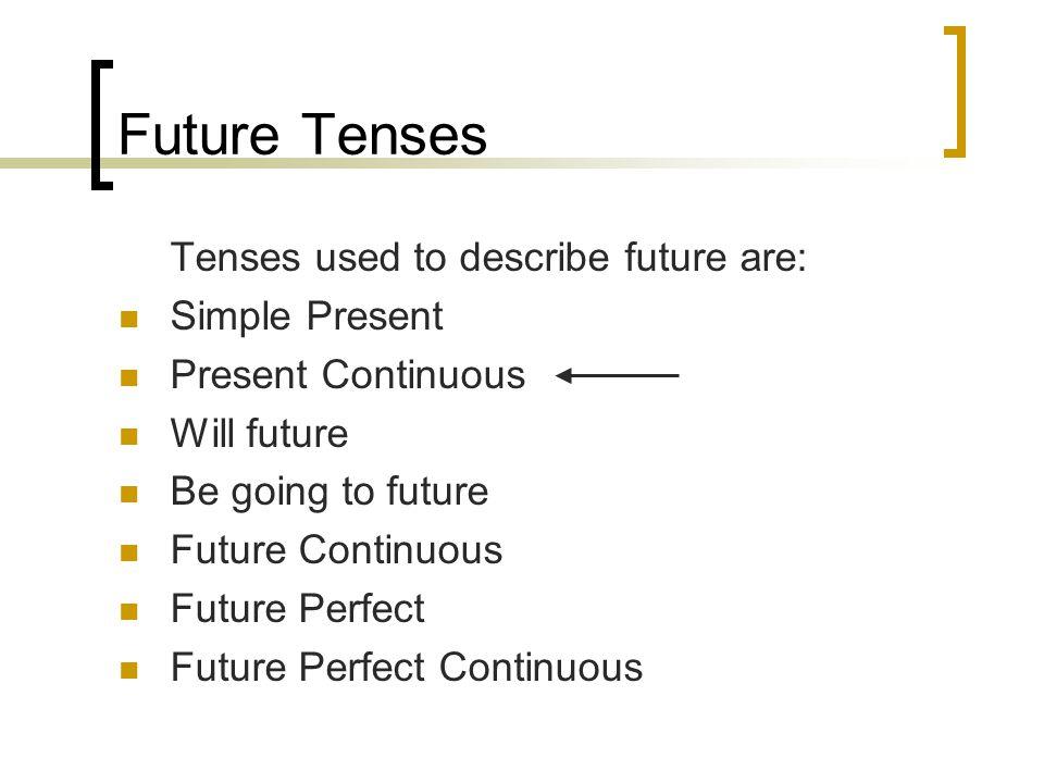 Future Tenses Will Future Use of will future 1.