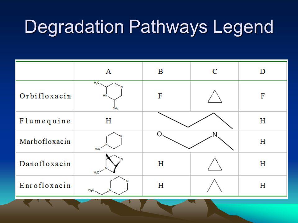 Degradation Pathways Legend