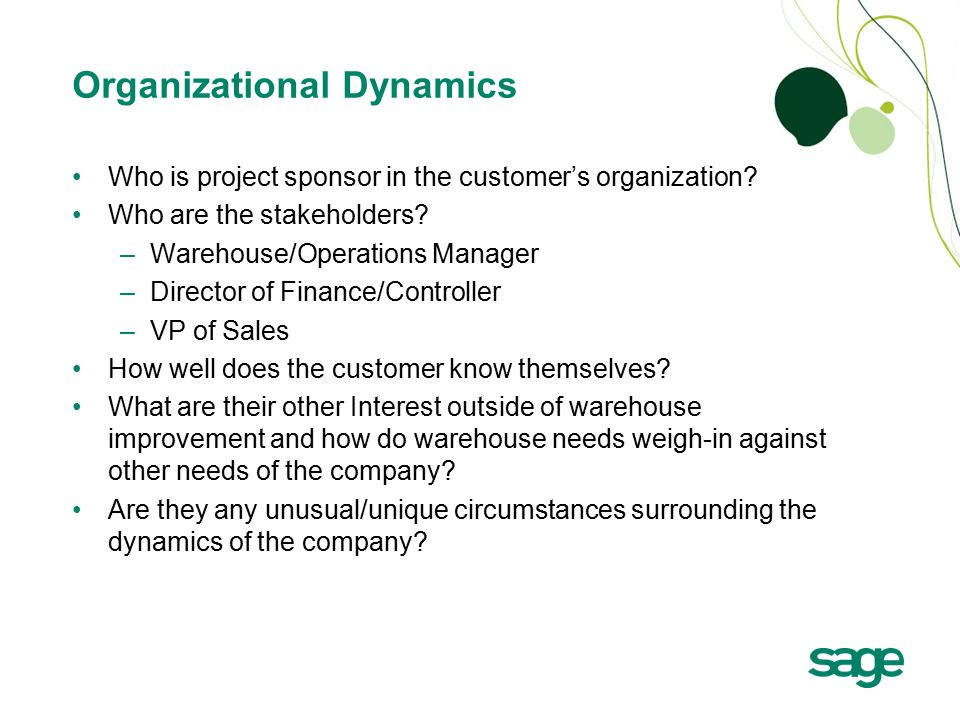 Who is project sponsor in the customer's organization.