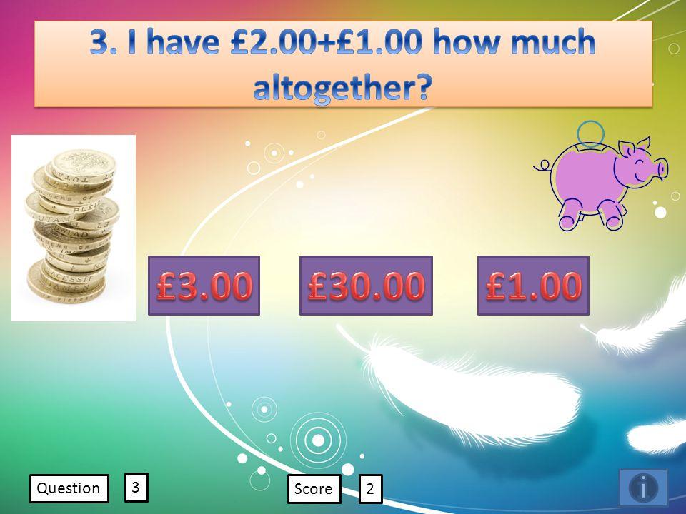 Question 3 Score2