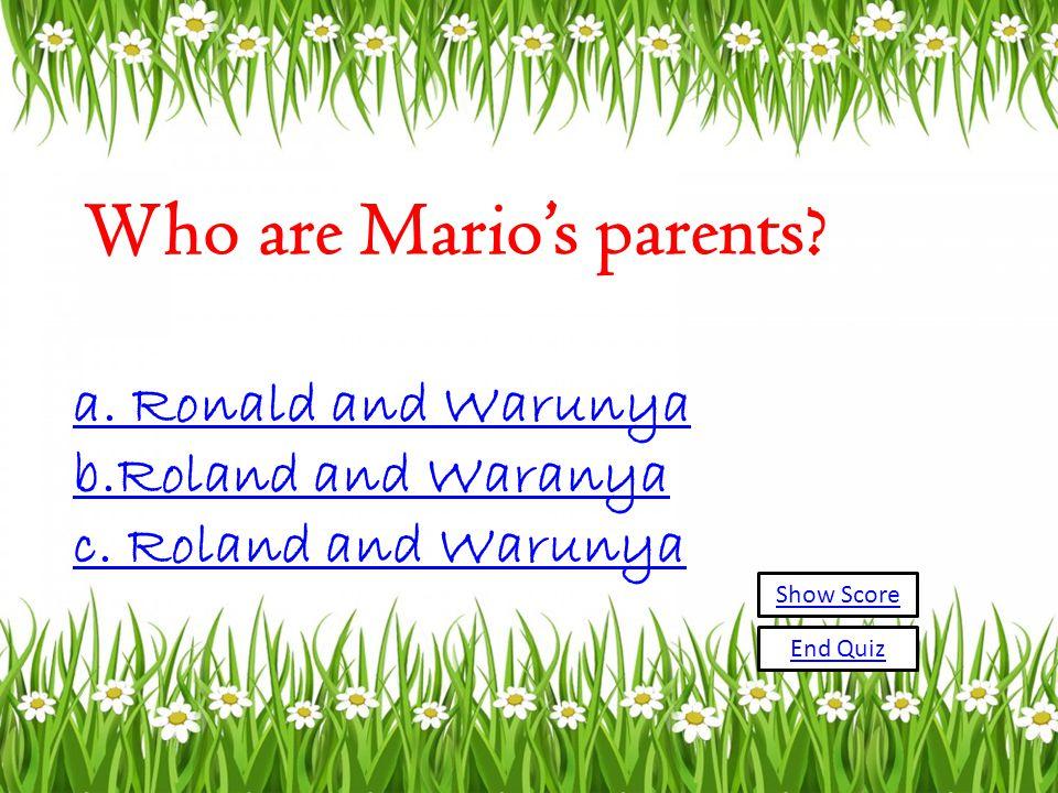 Mario was born on. a. December 5,1989 b. December 4, 1988 c.