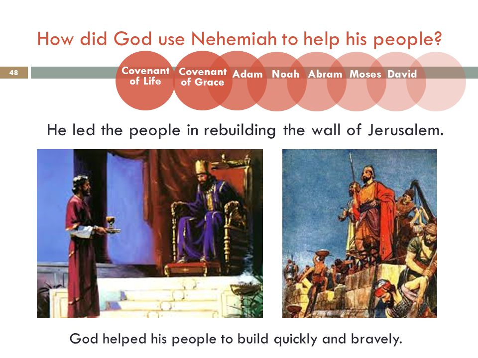 How did God use Nehemiah to help his people.