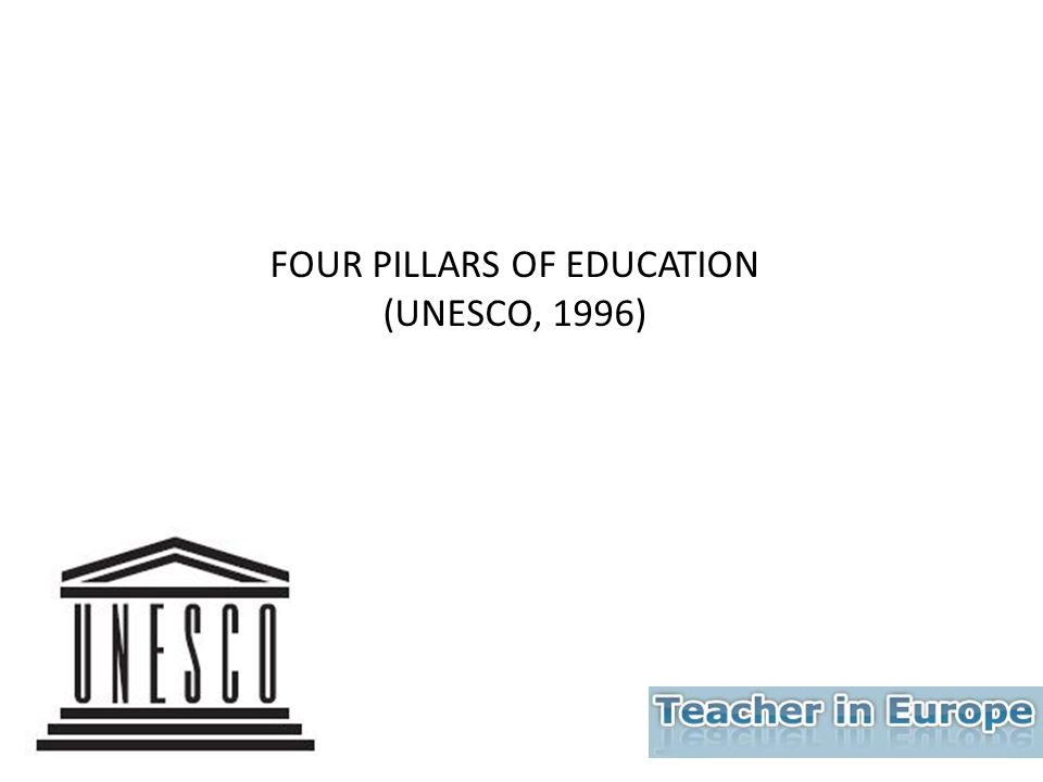 FOUR PILLARS OF EDUCATION (UNESCO, 1996)