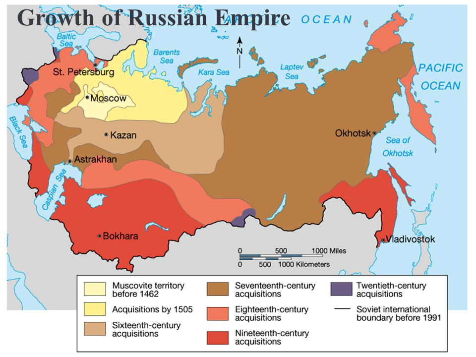 Russia was ruled for centuries by emperors called czars, including Ivan the Terrible.