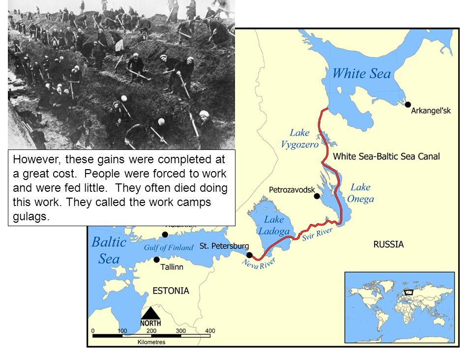 Trans-Siberian Railway Other slave-labor sites in the Soviet Union included mines in frozen Siberia or building the Trans-Siberian Railway.