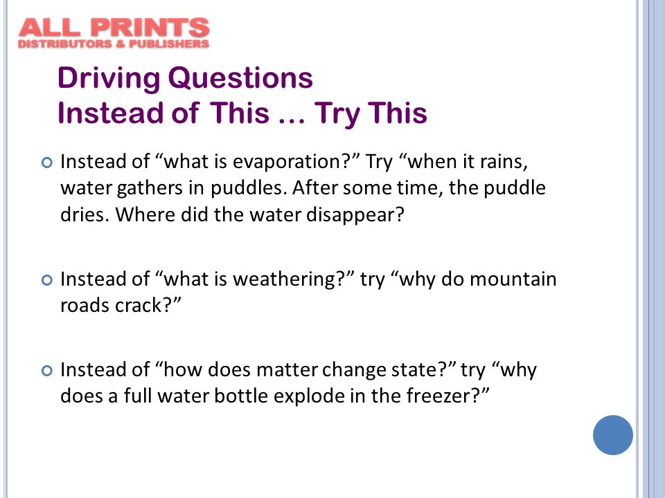 Instead of what is evaporation? Try when it rains, water gathers in puddles.