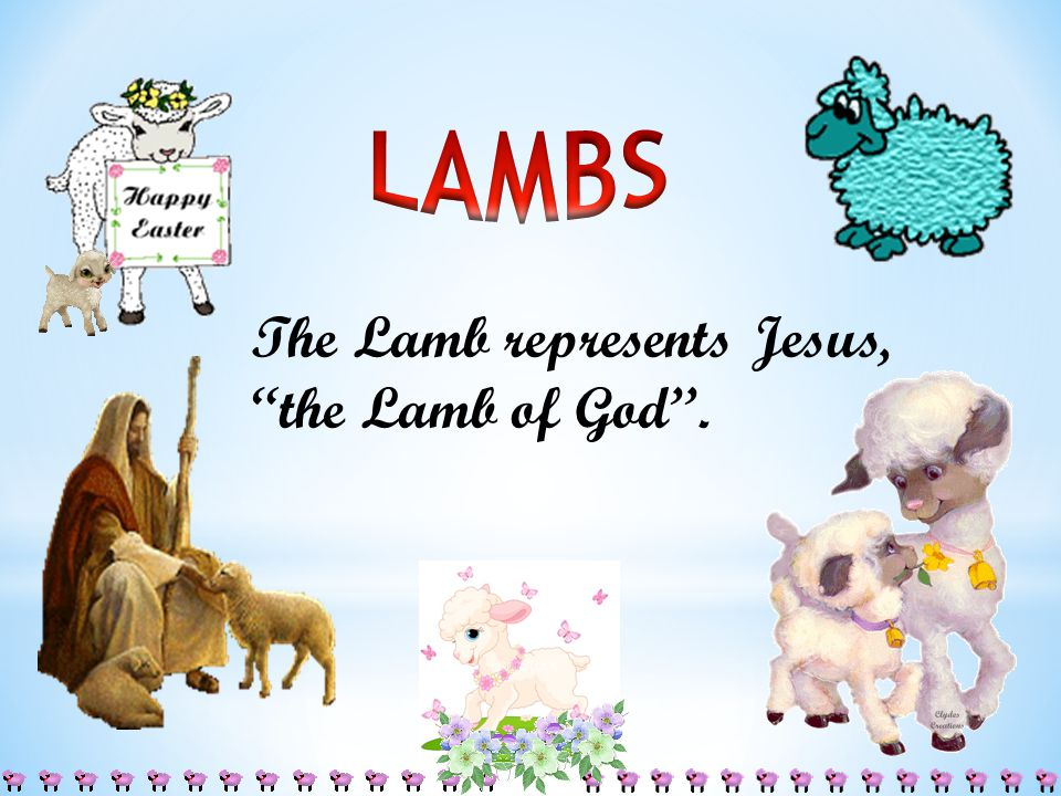 The Lamb represents Jesus, the Lamb of God''.