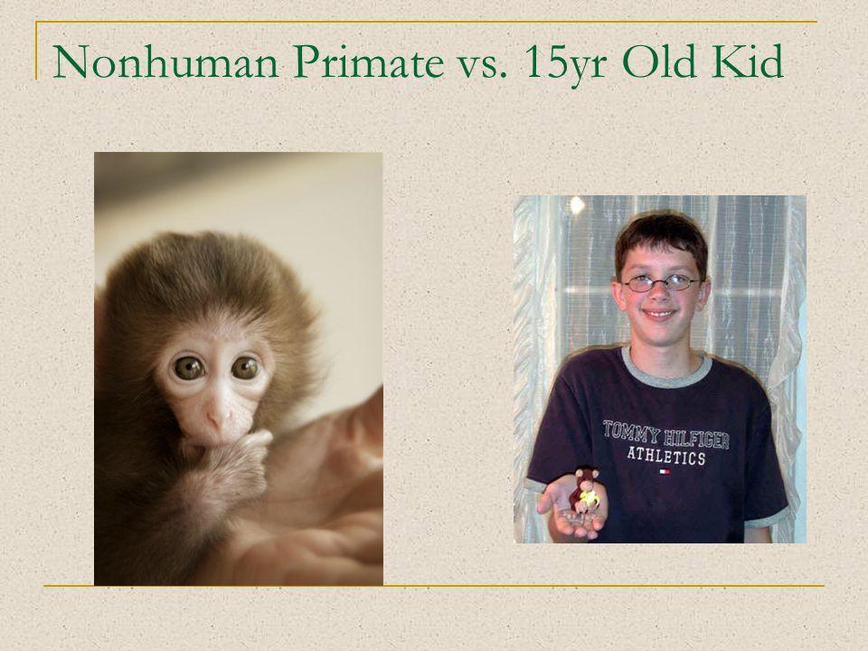 Nonhuman Primate vs. 15yr Old Kid