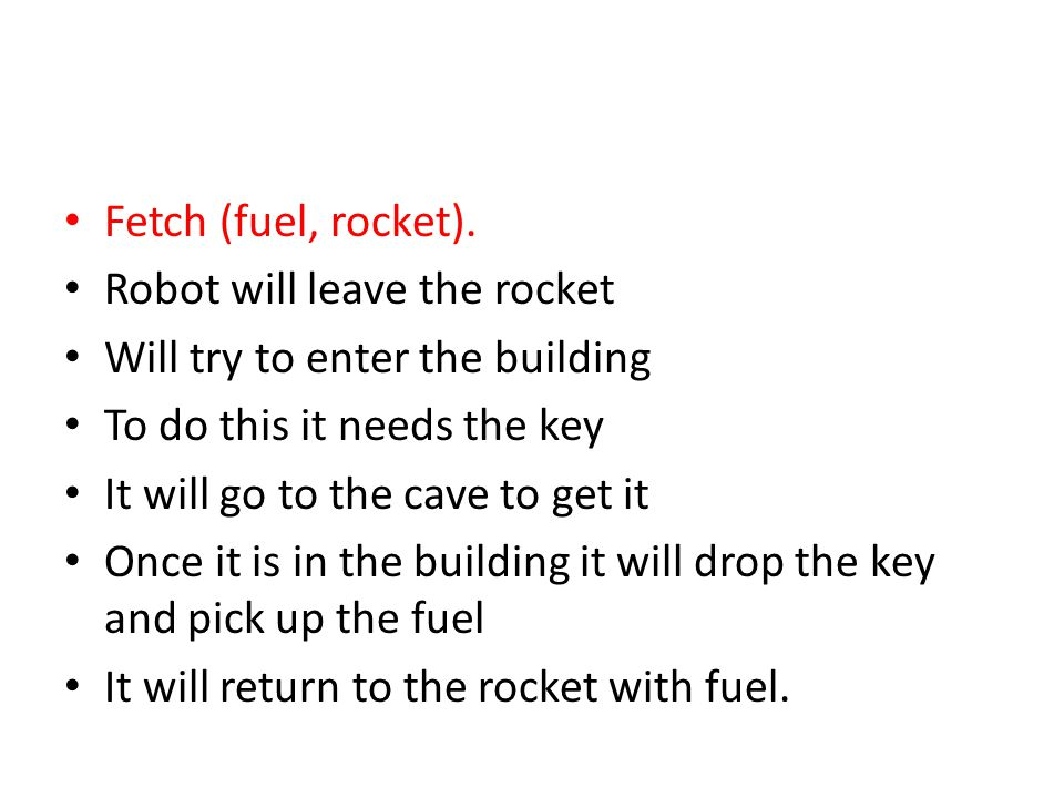 Fetch (fuel, rocket).