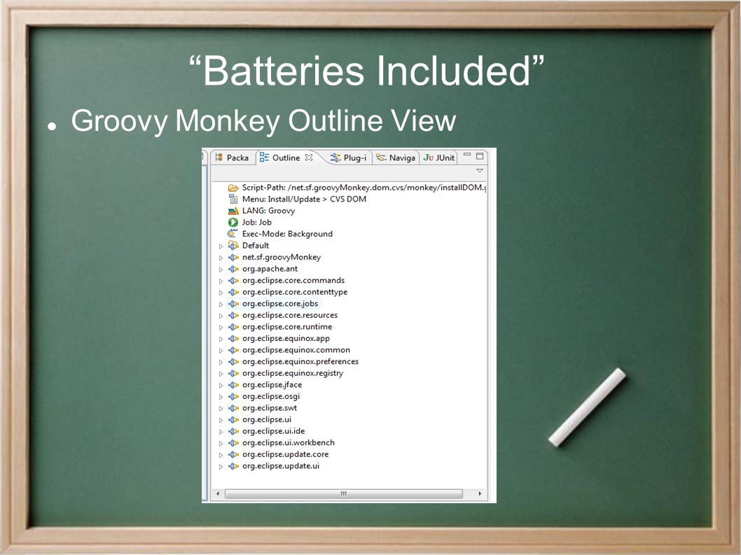 """Batteries Included"" Groovy Monkey Outline View"