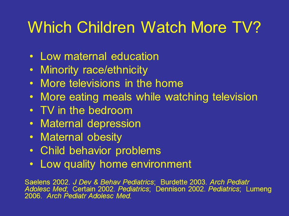 Which Children Watch More TV.