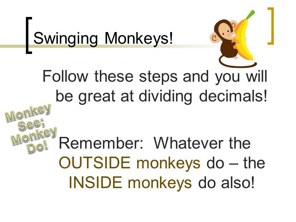 "Dividing Decimals ""Swingin' Monkeys"""
