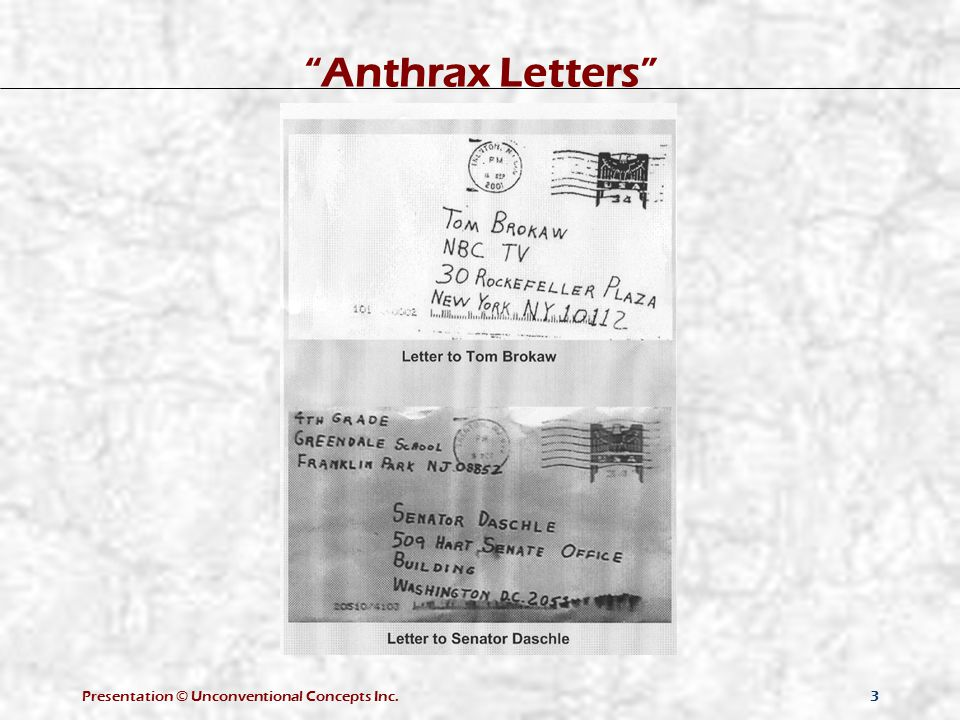 """3 """"Anthrax Letters"""""""