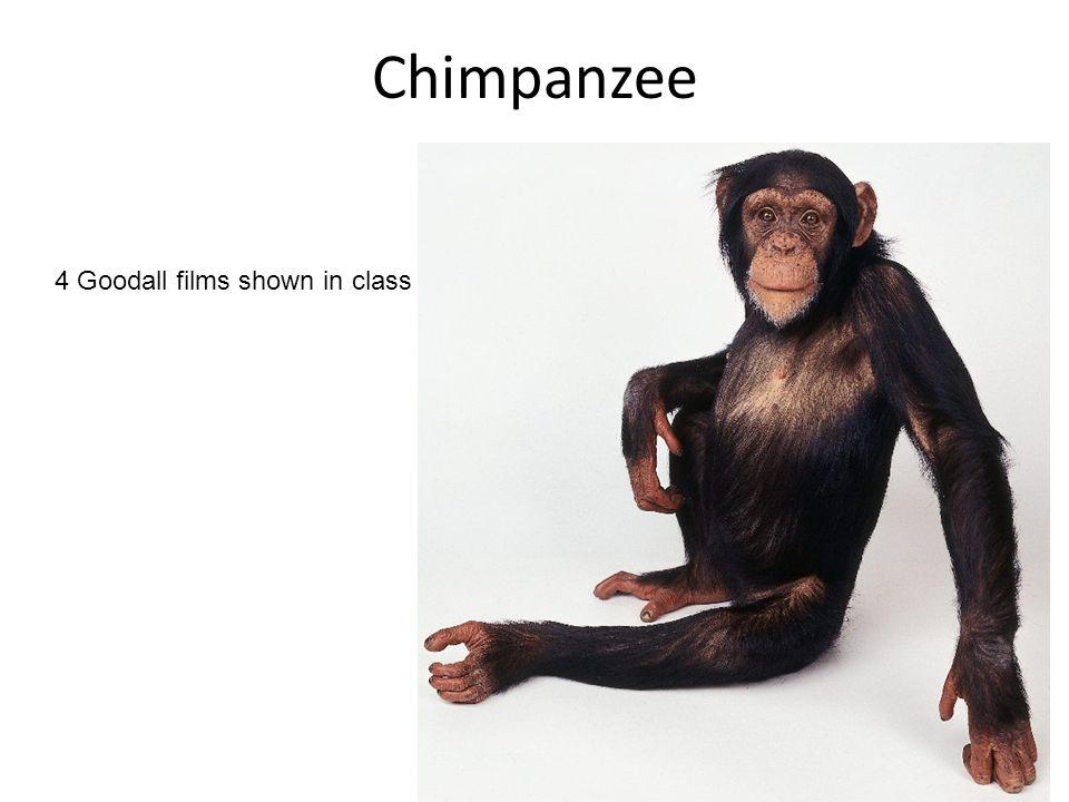 4 Goodall films shown in class