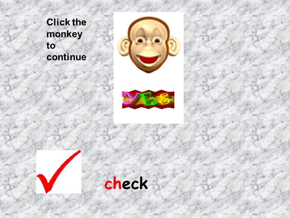 Click the monkey to continue check