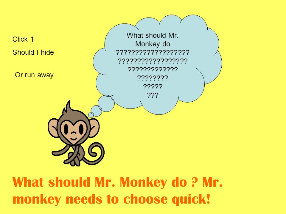 Mr monkey chose the wild wood he sees lots of humans and has a decision to make should he run away or hide from the humans .
