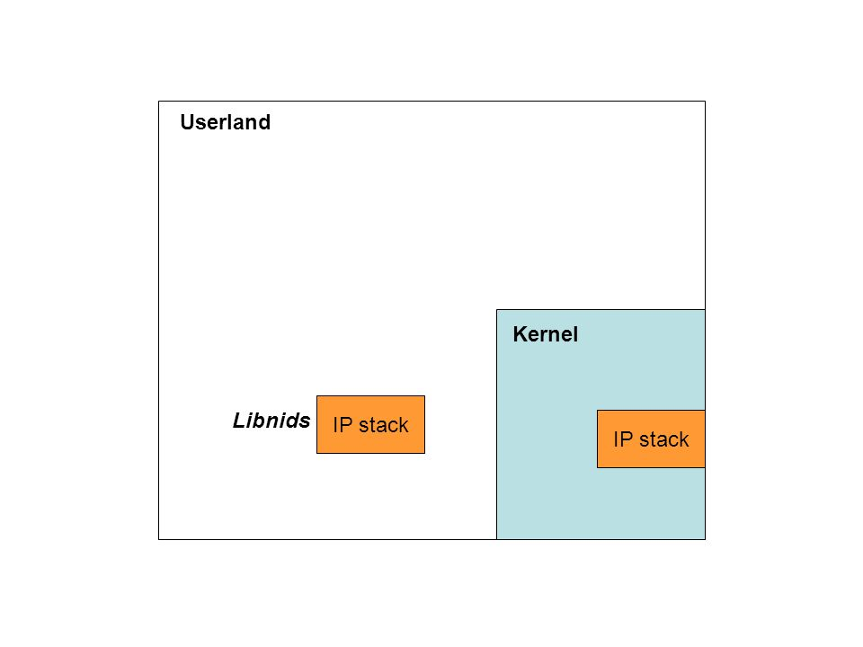 Kernel IP stack Userland IP stack Libnids