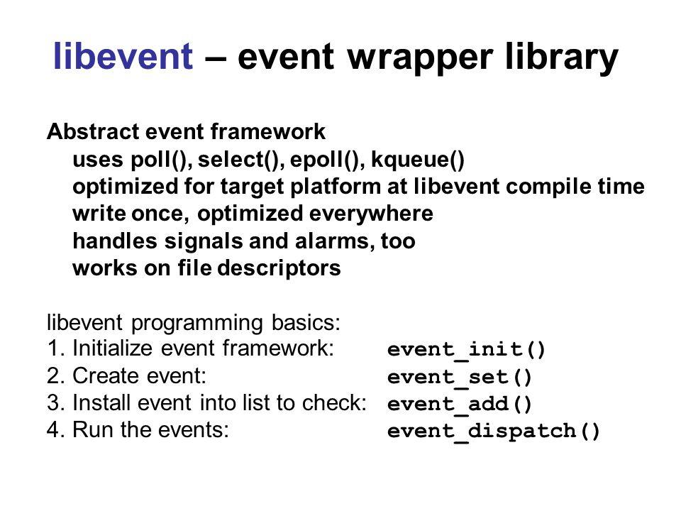 libnids Basics Initialize –nids_init() Register callbacks –nids_register_tcp() –nids_regster_ip() –nids_regiser_udp() Run.