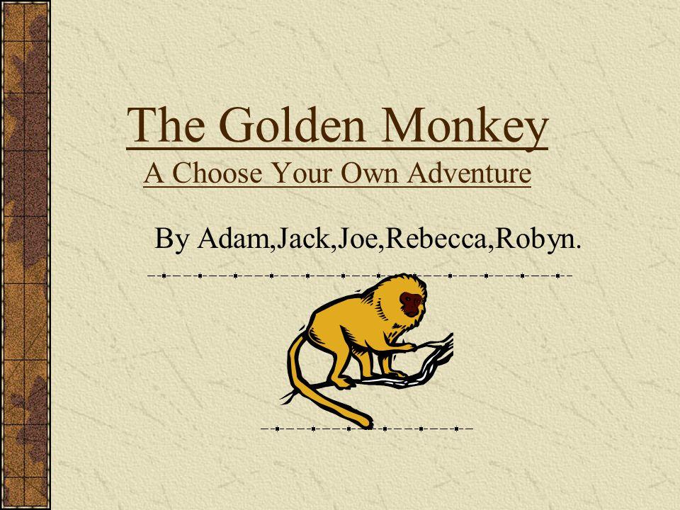 The Golden Monkey A Choose Your Own Adventure By Adam,Jack,Joe,Rebecca,Robyn.