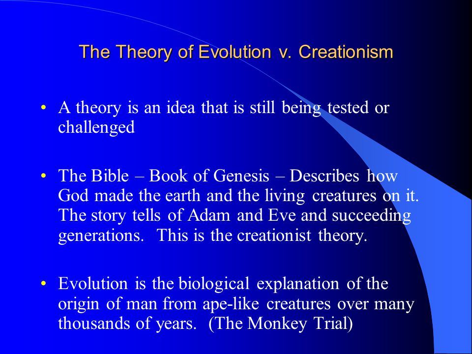 The Theory of Evolution v.