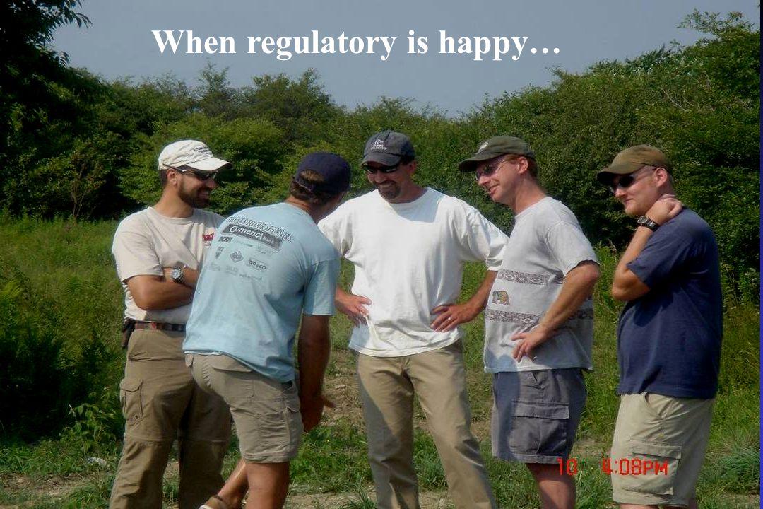When regulatory is happy…