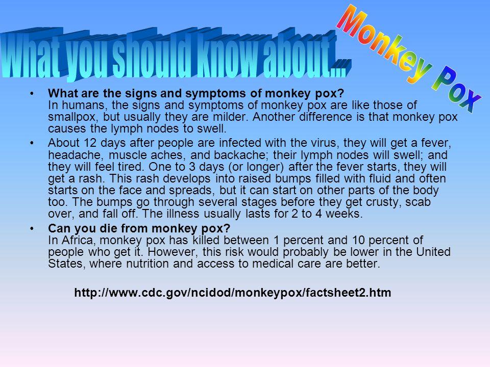 How do you catch monkey pox.