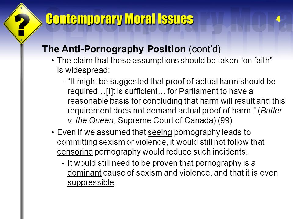How do I finish a term paper based on pornography degrading women ?