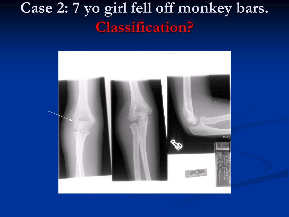 Case 2: 7 yo girl fell off monkey bars. Classification?