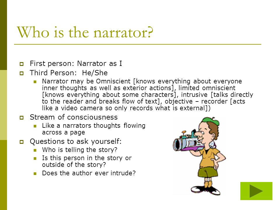 Who is the narrator.