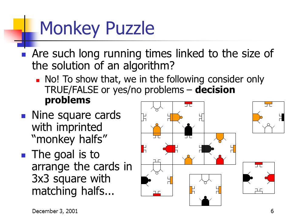 December 3, 20017 More Monkey...