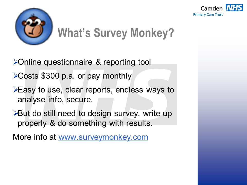 What's Survey Monkey.  Online questionnaire & reporting tool  Costs $300 p.a.