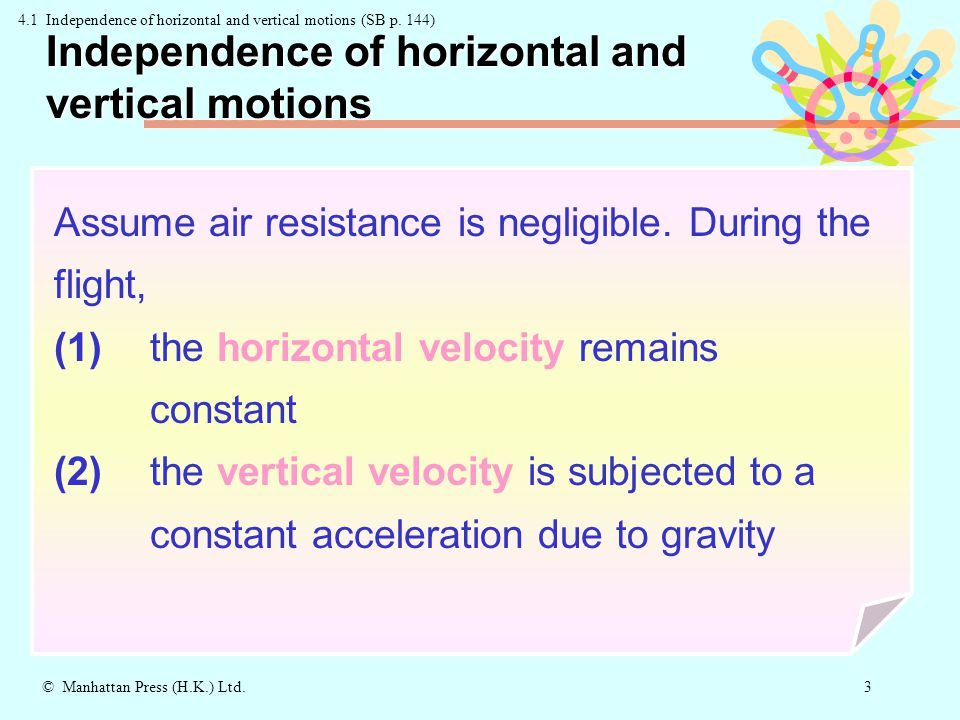 2 © Manhattan Press (H.K.) Ltd. What is projectile motion .