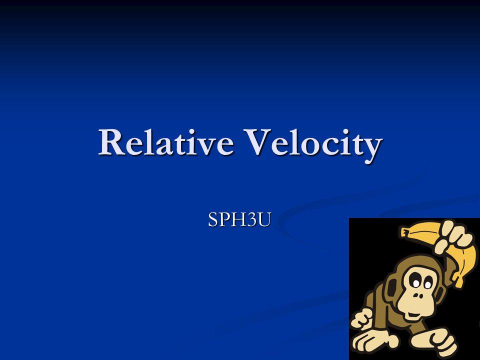 Relative Velocity SPH3U