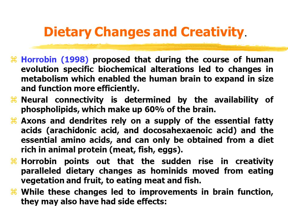 Dietary Changes and Creativity.