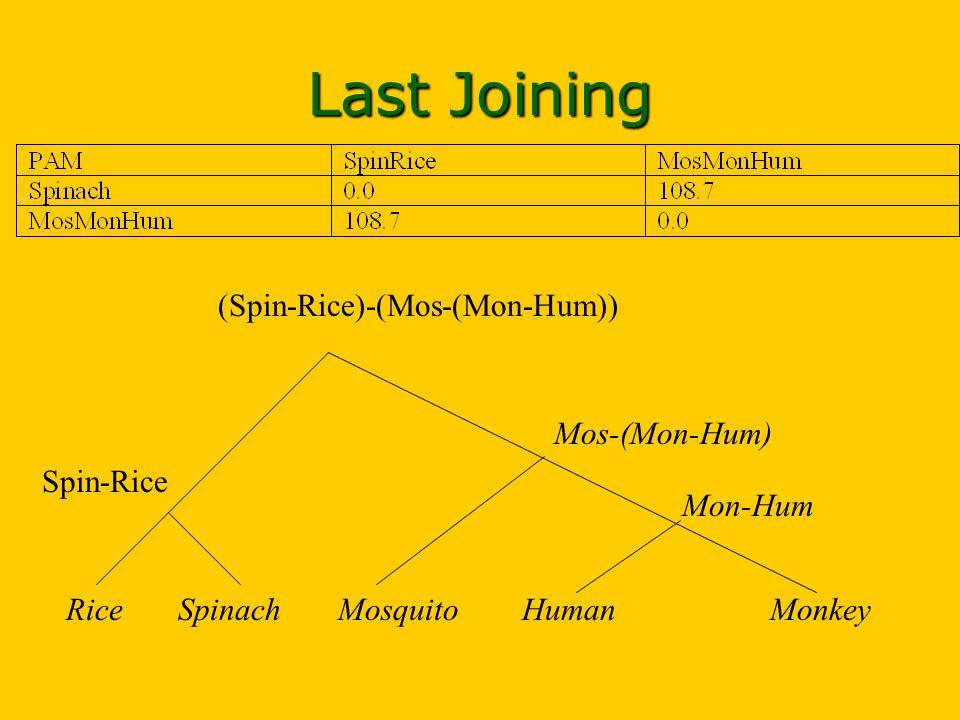 HumanMosquito Mon-Hum MonkeySpinachRice Mos-(Mon-Hum) Spin-Rice (Spin-Rice)-(Mos-(Mon-Hum)) Last Joining